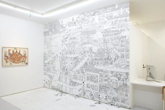 Live drawing piece at 8/ ART GALLERY/ Tomio Koyama Gallery (photo: Tomio Koyama Gallery)