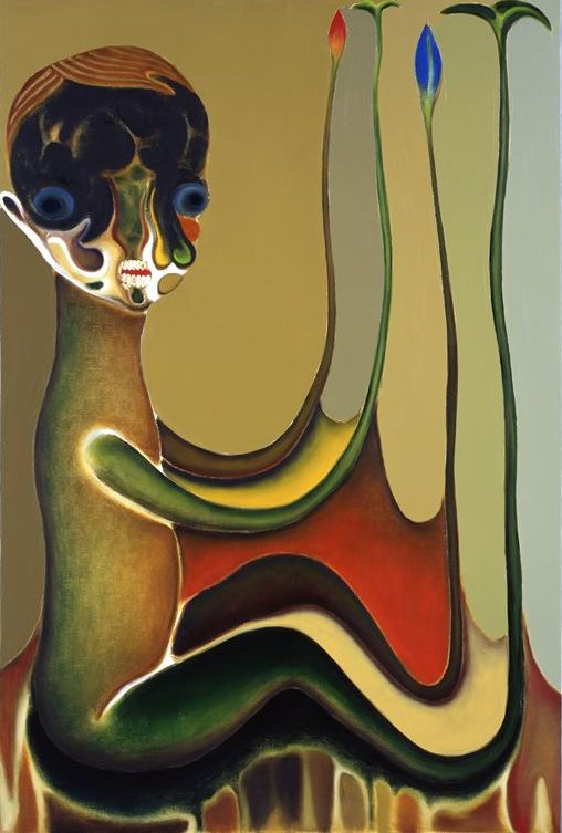 "Izumi Kato ""Untitled"" 2009, Oil on canvas, 194 x 130.3 cm Takahashi Collection, Courtesy of ARATANIURANO"