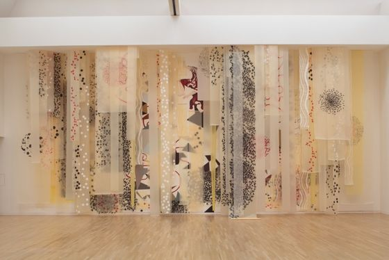 """Echo"" by Shahzia Sikander, installation, 2010 Courtesy of the Artist"