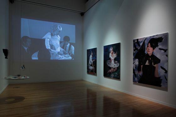 Exhibition view of the artworks by Sputniko! photo by Keizo Kioku