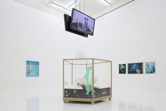 Exhibition view of the artworks by Mathew Barney photo by Keizo Kioku