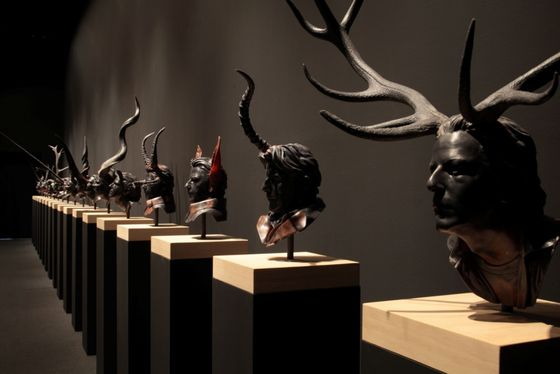 Exhibition view of the artworks by Jan Fabre photo by Keizo Kioku