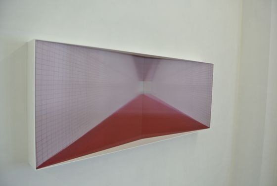 "Kyoko Nagashima ""There"". The image fluctuates when you view it from different angles because of the lenticular lens."