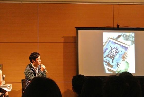 Kohei Nawa talking at G-tokyo