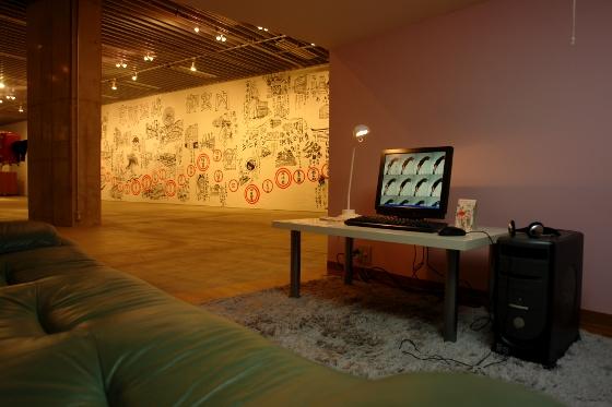 "Tatzu Nishi ""Internet cafe"", detail, 2011"