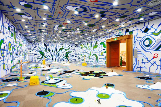"""paramodelic-graffiti"" by Paramodel, at Otani memorial art museum (©paramodel / photo:paramodel)"