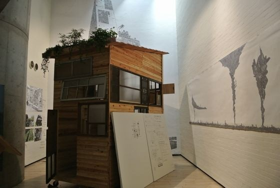 "Kyohei Sakaguchi's ""Mobile House"" at exhibition ""Practice for a revolution"", Watarium museum"