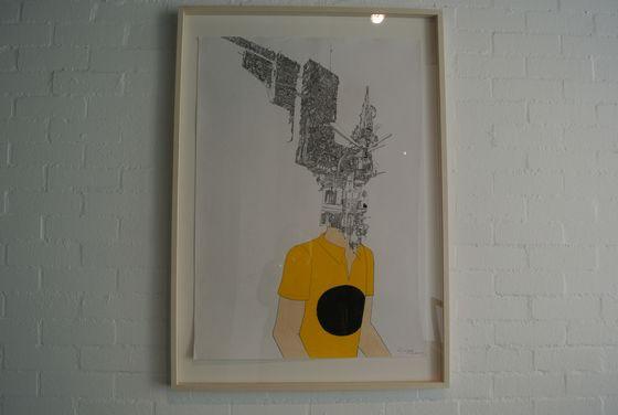 """Drawing """"Dig-ital #2"""" (2007) by Kyohei Sakaguchi"""