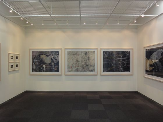 """Exhibition view of """"concrete abstraction"""" by Toshio Shibata at BLD gallery"""