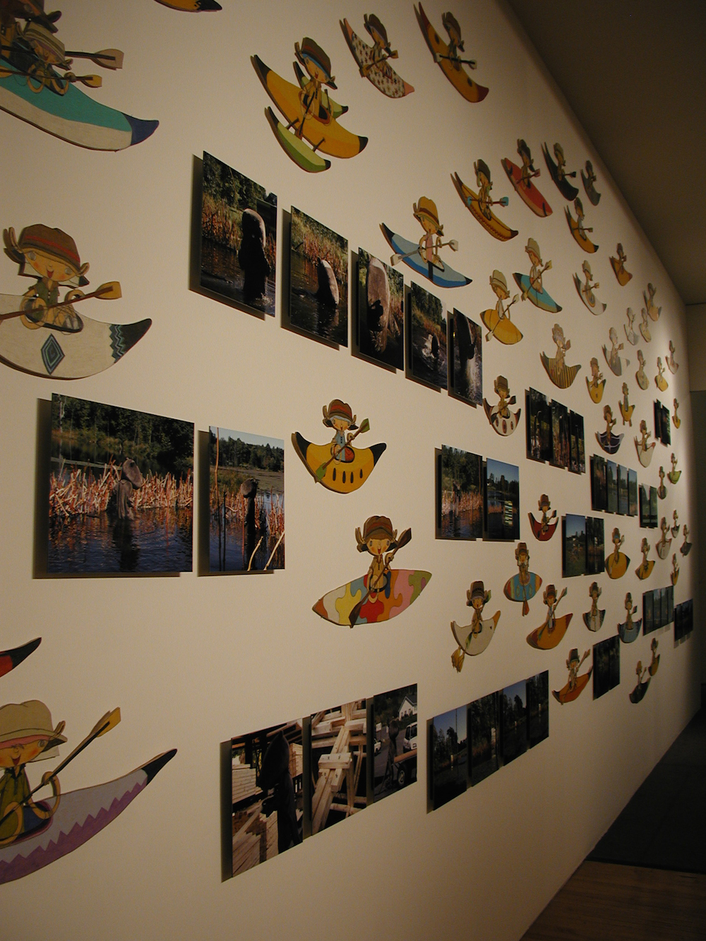 "Installation view from ""Beaver no Seikatsu"" at Sandra and David Bakalar Gallery, Massachusetts College of Art, USA 2006 ©Shintaro Miyake"