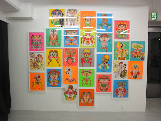 "Keiichi Tanaami's drawings exhibited at ""New animation & Drawings"" at NANZUKA gallery, 2012"