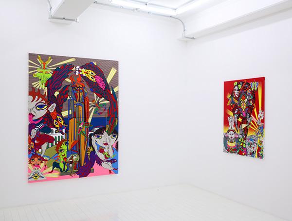 """exhibition view of """"Kochuten"""" at Nanzuka Underground, 2009"""
