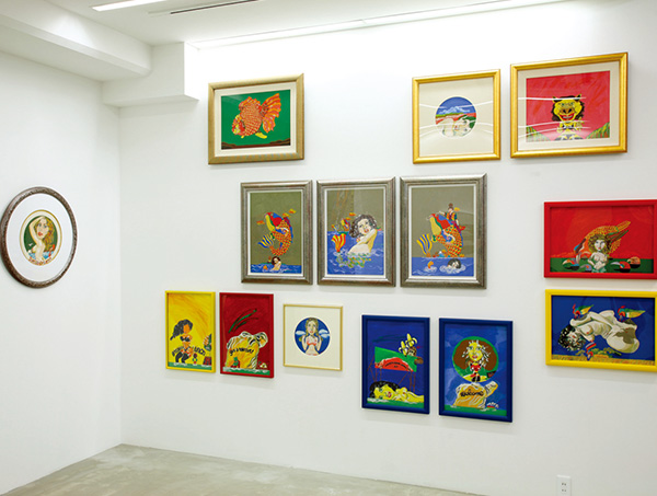 "exhibition view of ""COLORFUL"" at Nanzuka Underground, 2008"