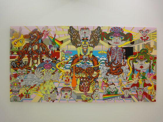 Painting by Keiichi Tanaami at NANZUKA UNDERGROUND, Shirokane, Tokyo.