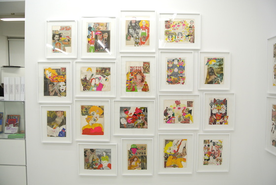 "Collaged works by Keiichi Tanaami at ""KILLER JOE'S (1965 - 1975)"" at NANZUKA gallery 2013."