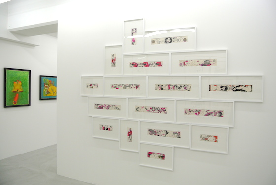 "Drawings by Keiichi Tanaami at ""KILLER JOE'S (1965 - 1975)"" at NANZUKA gallery 2013."