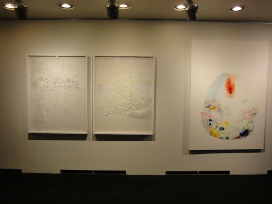 """Overflowing Time""(left) and ""Germination""(right) both by Miyuki Takenaka"