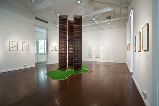 "Exhibition view of ""Singa-planet"" by Akira Yamaguchi Photo by Ernest Goh"