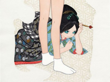 New Arrival: Ai Yamaguchi unveils prints that combine Edo-period art with modern anime illustrations