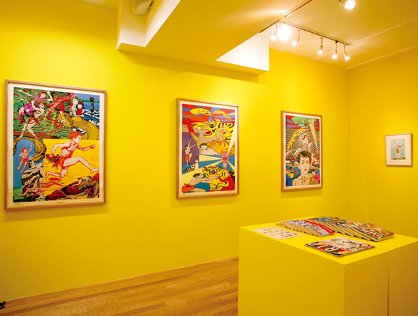"Exhibition View of ""Shonen Oja (King of Boy)"" by Soji Yamakawa x Keiichi Tanaami, 2009"