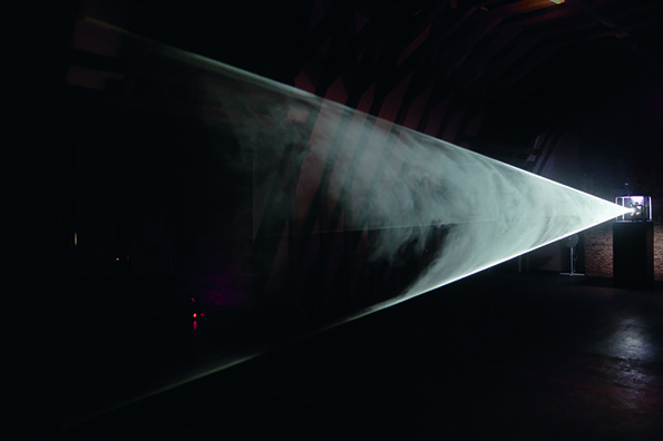 Anthony McCall, Line Describing a Cone 1973. Installation view: Musée de Rochechouart, 2007. Photo: Freddy Le Saux *referential image