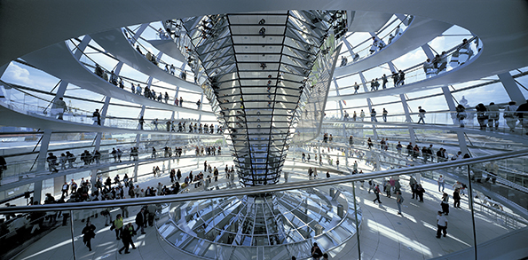 Foster + Partners, Reichstag. New German Parliament. 1992-1999. Berlin. Photo: Rudi Geisel